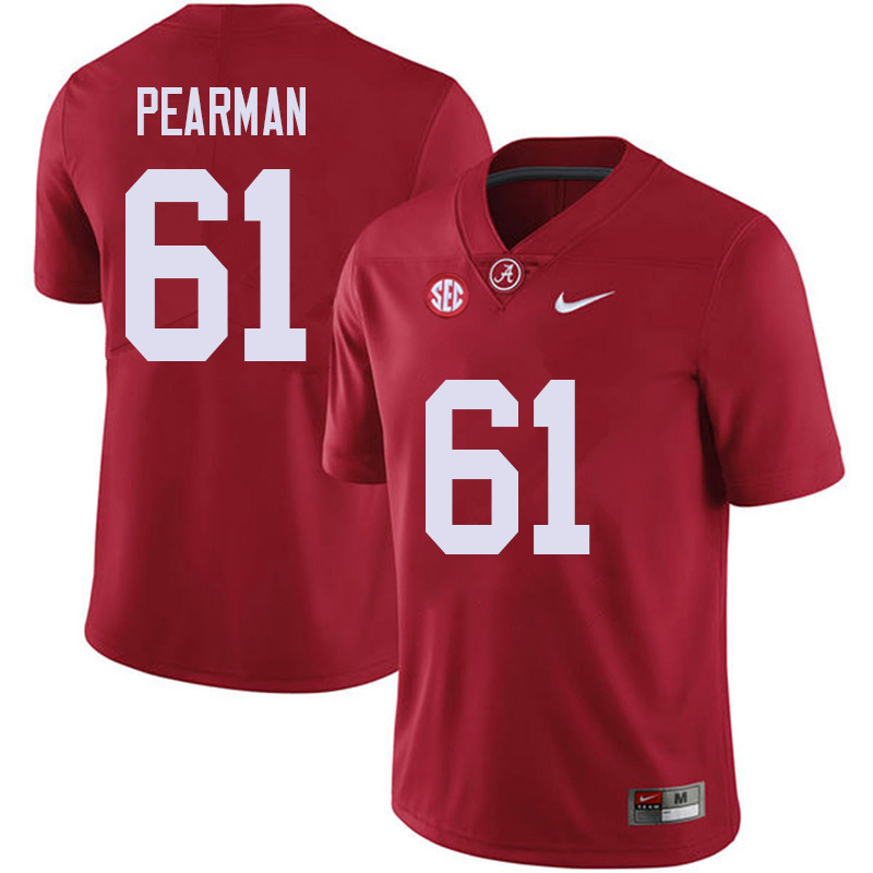 Men #61 Alex Pearman Alabama Crimson Tide College Football Jerseys Sale-Red