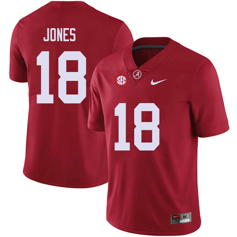 Men #18 Austin Jones Alabama Crimson Tide College Football Jerseys Sale-Red