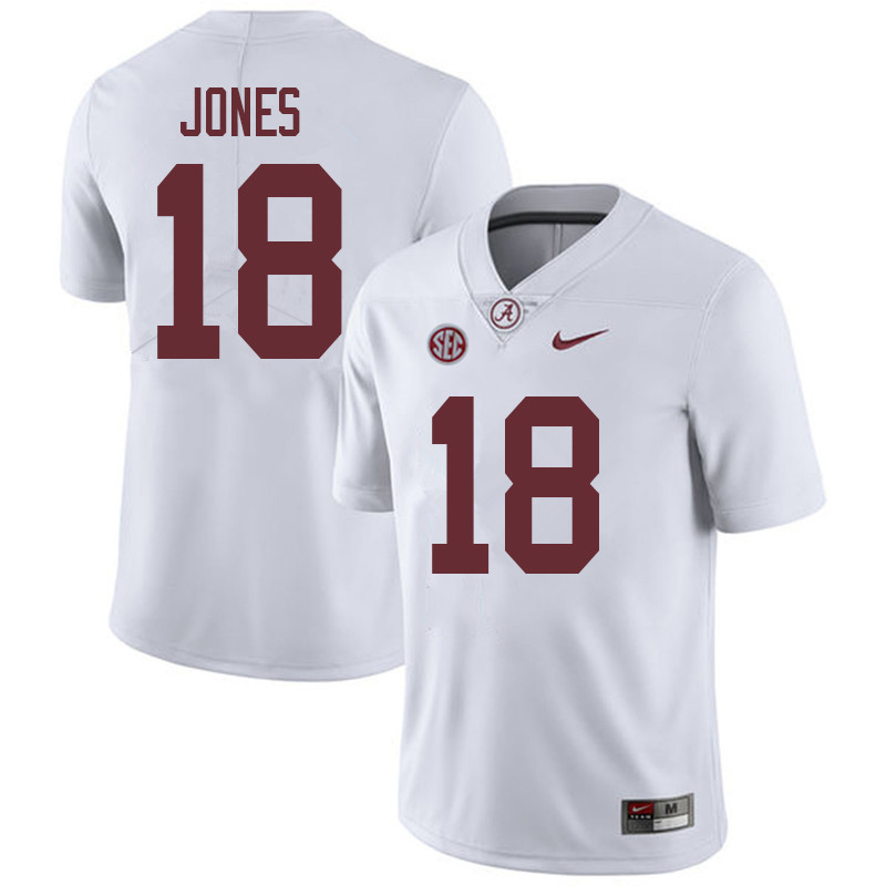 Men #18 Austin Jones Alabama Crimson Tide College Football Jerseys Sale-White
