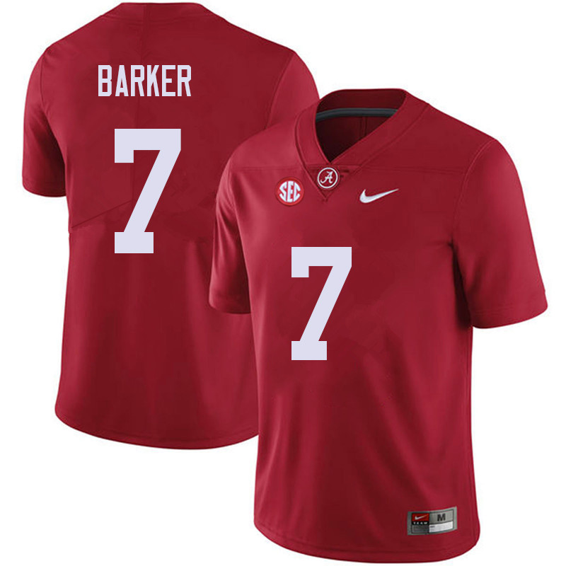 Men #7 Braxton Barker Alabama Crimson Tide College Football Jerseys Sale-Red
