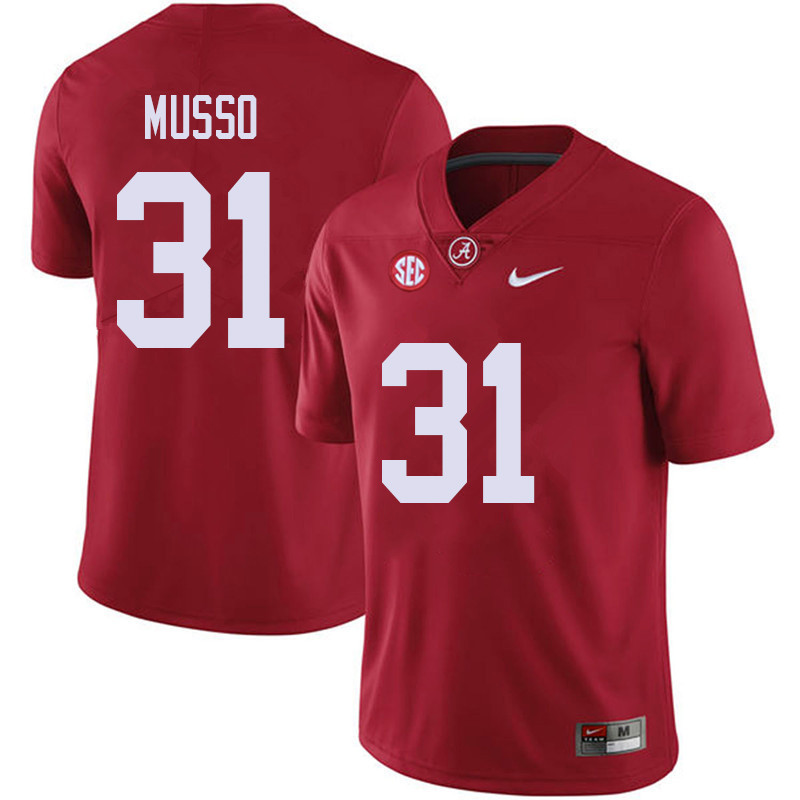 Men #31 Bryce Musso Alabama Crimson Tide College Football Jerseys Sale-Red