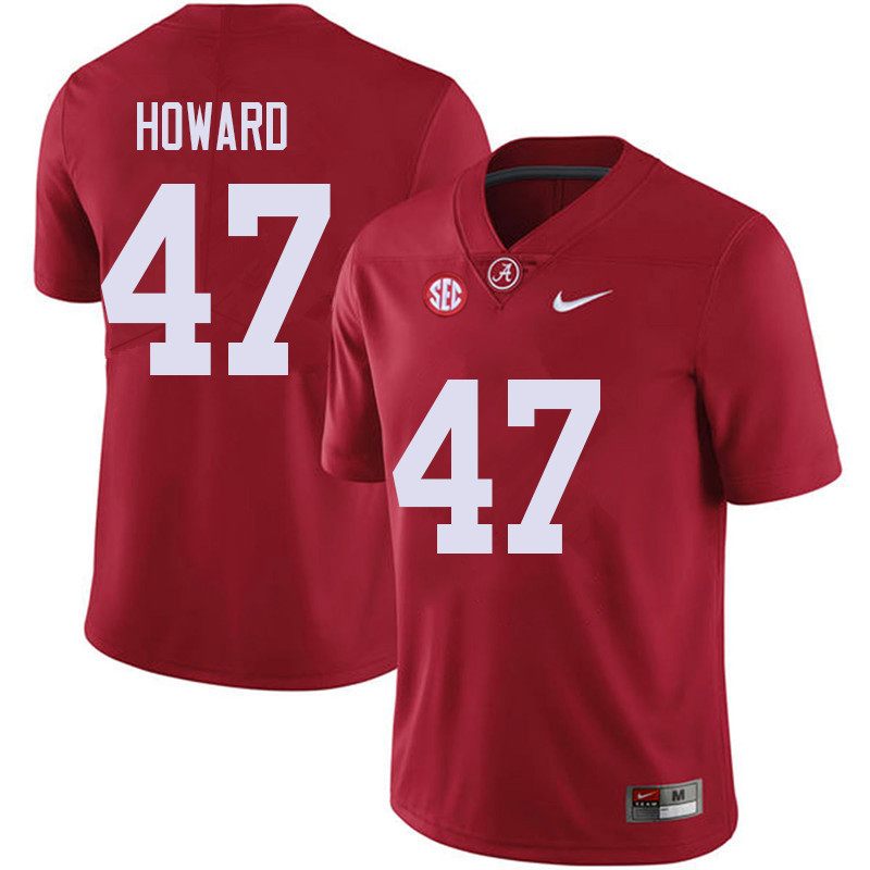 Men #47 Chris Howard Alabama Crimson Tide College Football Jerseys Sale-Red