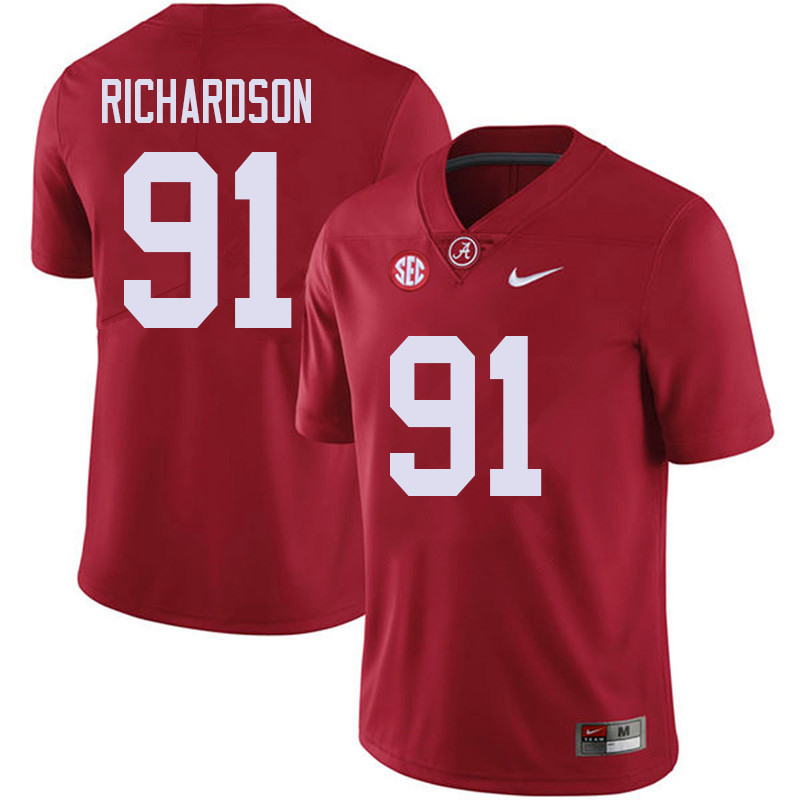 Men #91 Galen Richardson Alabama Crimson Tide College Football Jerseys Sale-Red