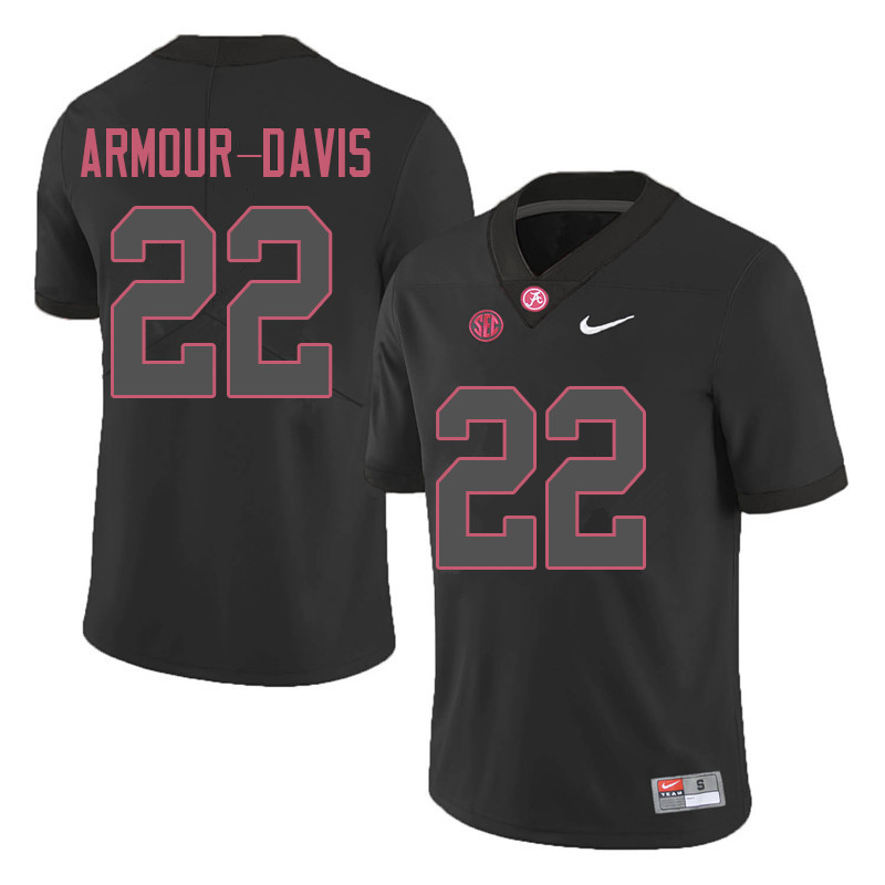 Men #22 Jalyn Armour-Davis Alabama Crimson Tide College Football Jerseys Sale-Black
