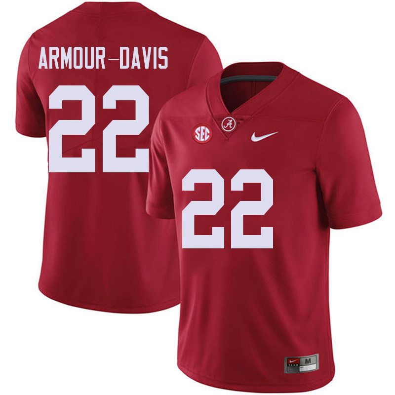 Men #22 Jalyn Armour-Davis Alabama Crimson Tide College Football Jerseys Sale-Red