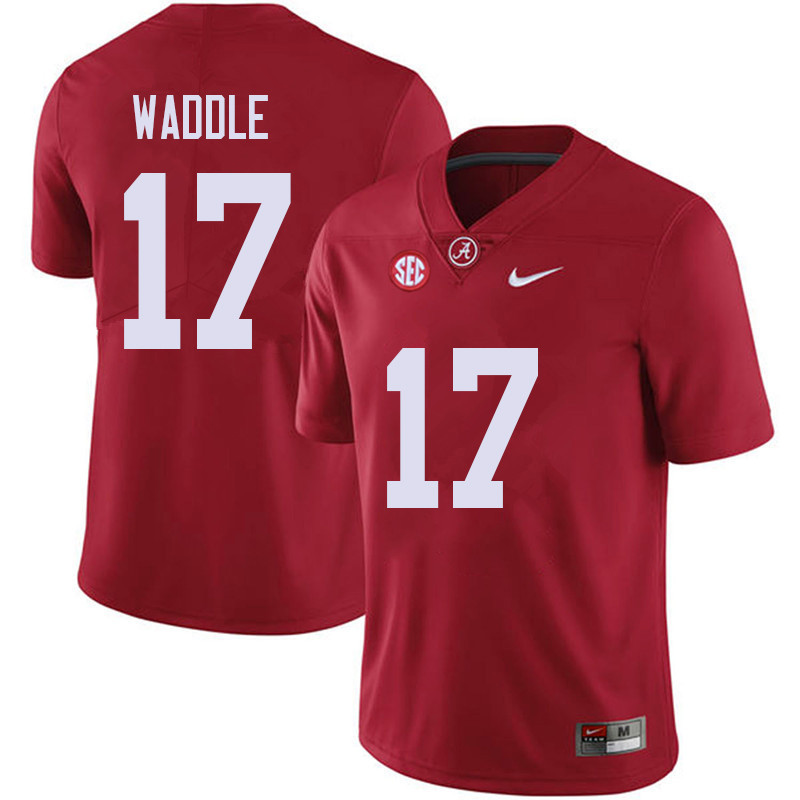 Men #17 Jaylen Waddle Alabama Crimson Tide College Football Jerseys Sale-Red