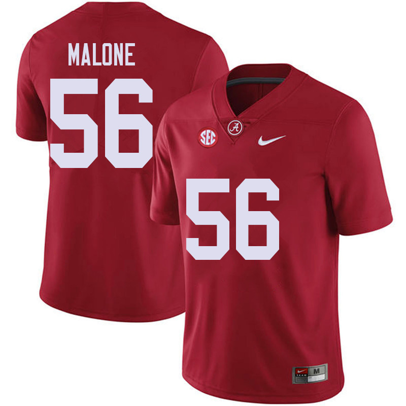 Men #56 Preston Malone Alabama Crimson Tide College Football Jerseys Sale-Red