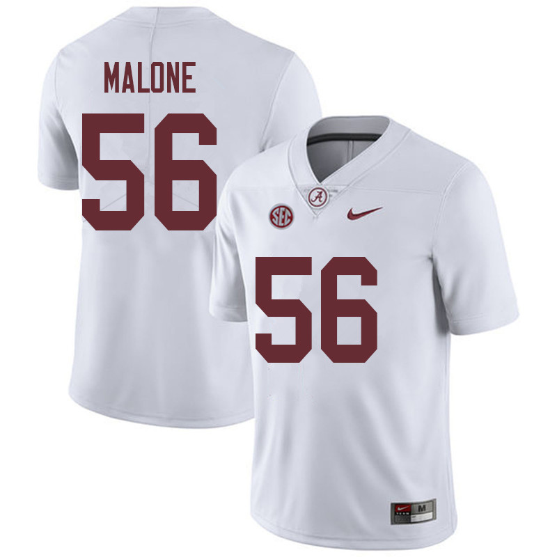 Men #56 Preston Malone Alabama Crimson Tide College Football Jerseys Sale-White