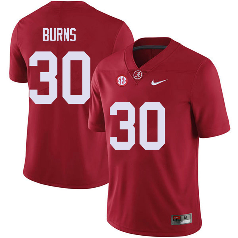 Men #30 Ryan Burns Alabama Crimson Tide College Football Jerseys Sale-Red