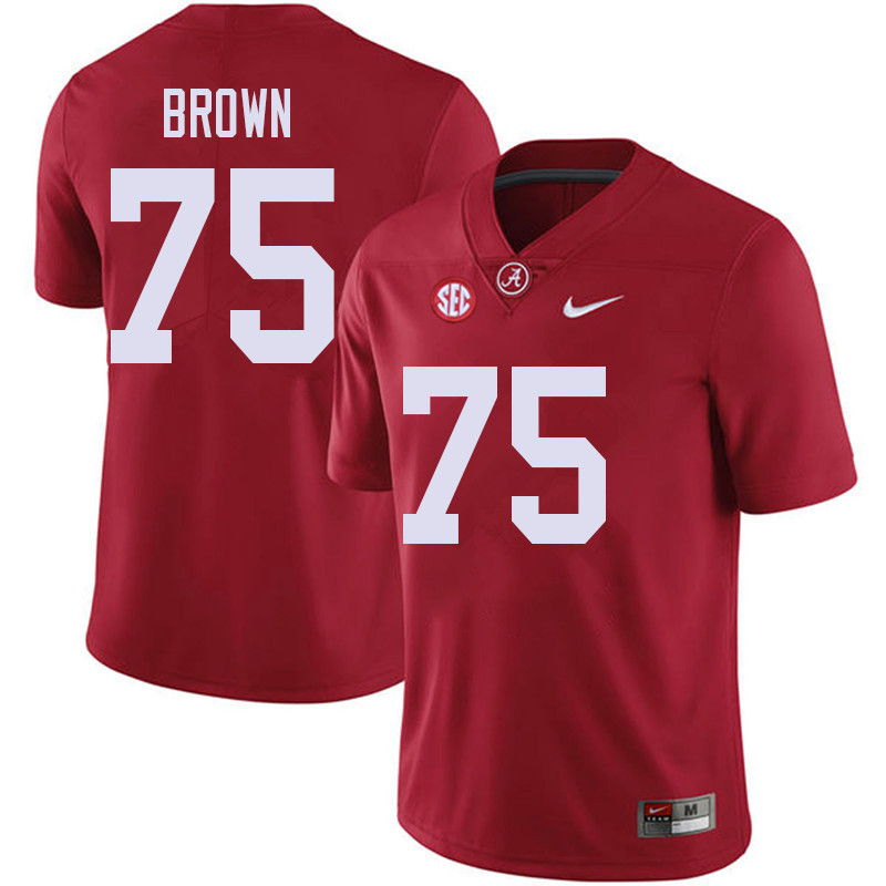 Men #75 Tommy Brown Alabama Crimson Tide College Football Jerseys Sale-Red