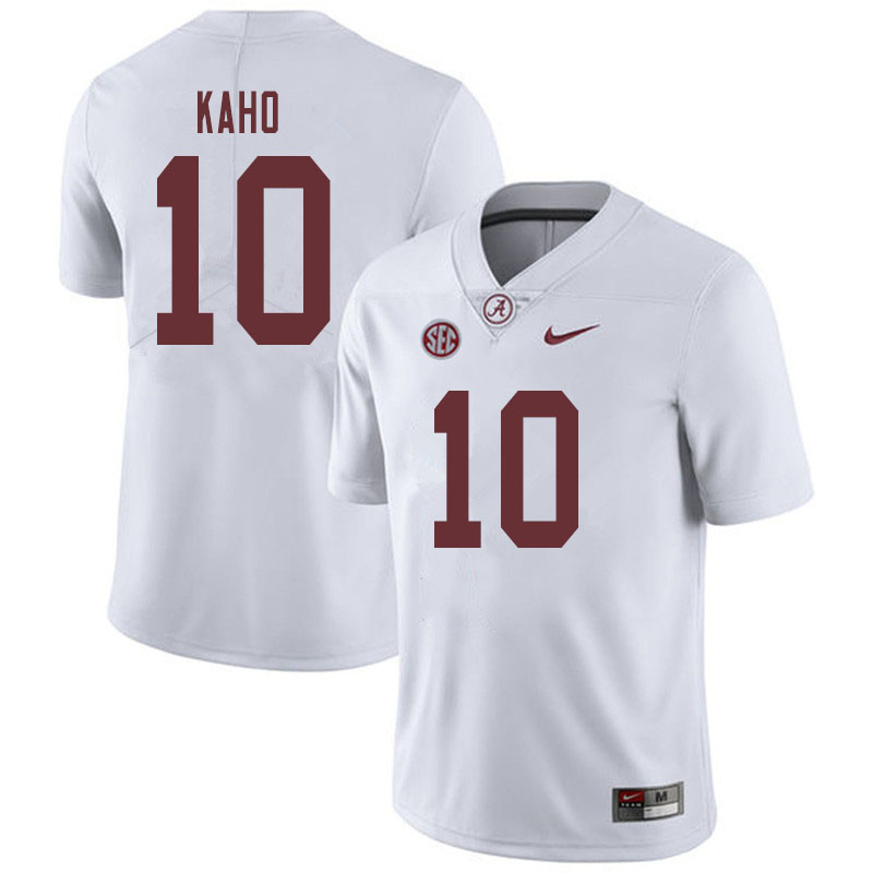 Men #10 Ale Kaho Alabama Crimson Tide College Football Jerseys Sale-White