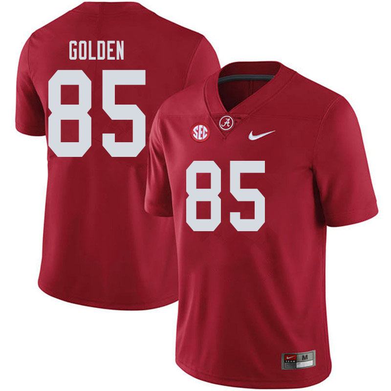 Men #85 Chris Golden Alabama Crimson Tide College Football Jerseys Sale-Crimson