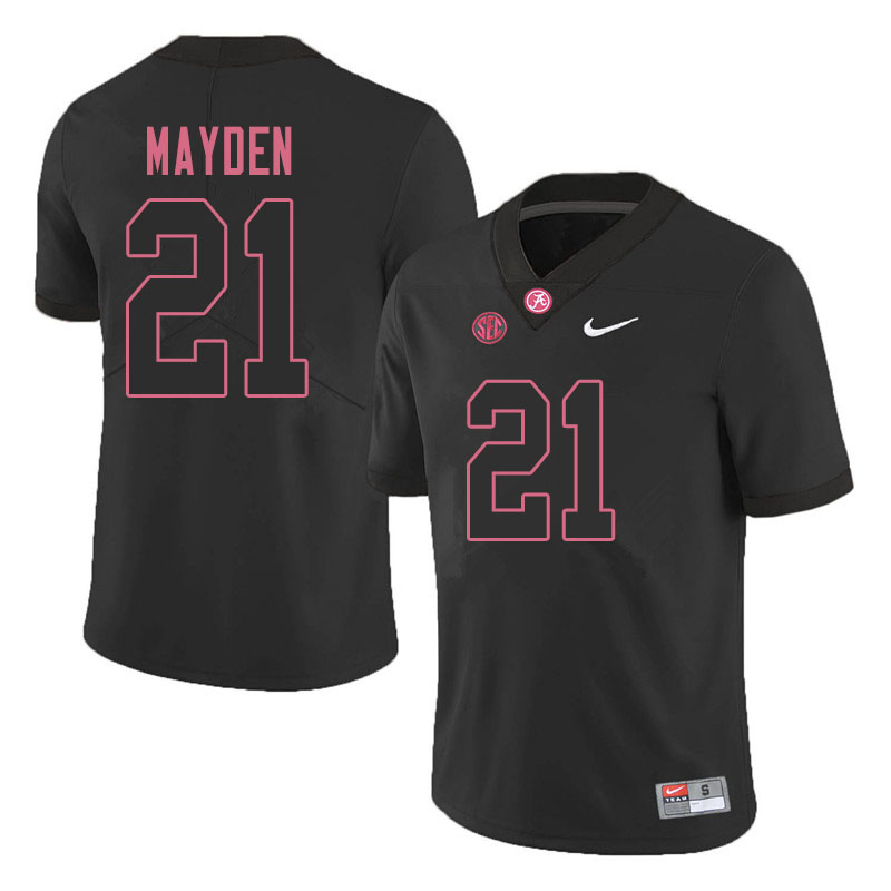 Men #21 Jared Mayden Alabama Crimson Tide College Football Jerseys Sale-Blackout