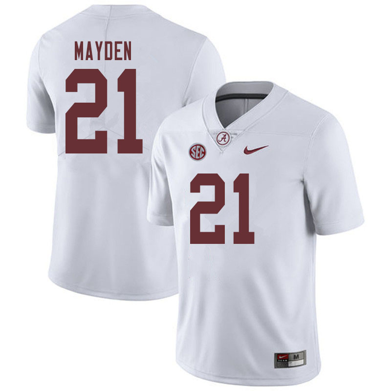 Men #21 Jared Mayden Alabama Crimson Tide College Football Jerseys Sale-White