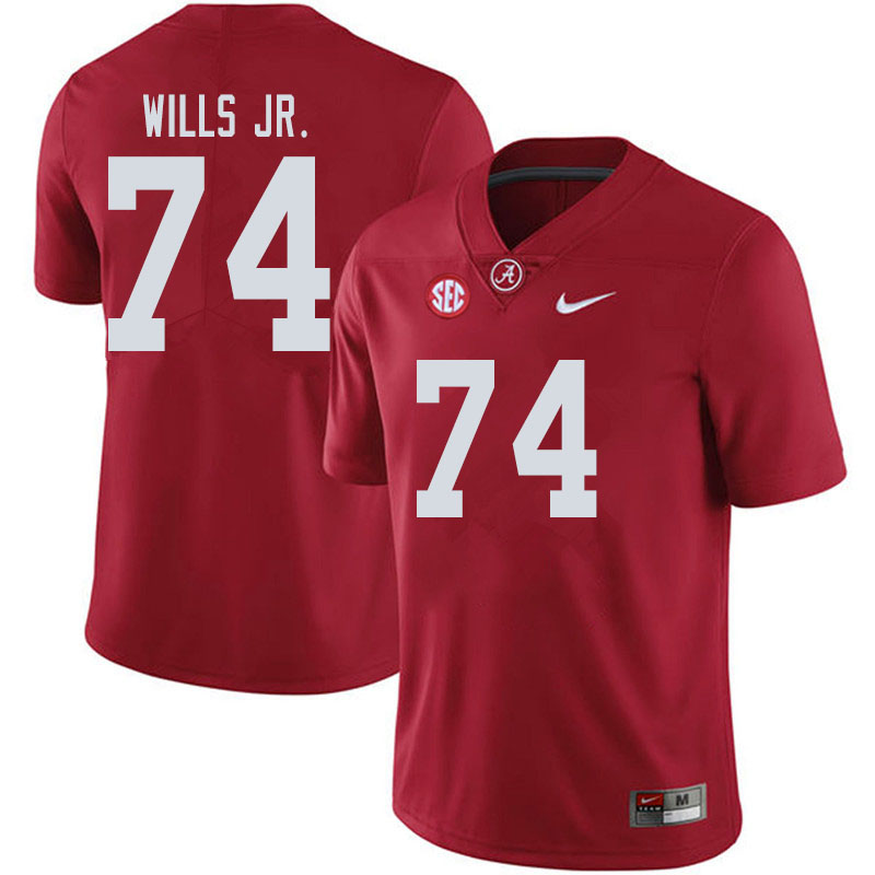 Men #74 Jedrick Wills Jr. Alabama Crimson Tide College Football Jerseys Sale-Crimson