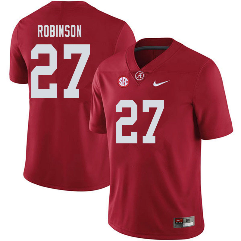 Men #27 Joshua Robinson Alabama Crimson Tide College Football Jerseys Sale-Crimson