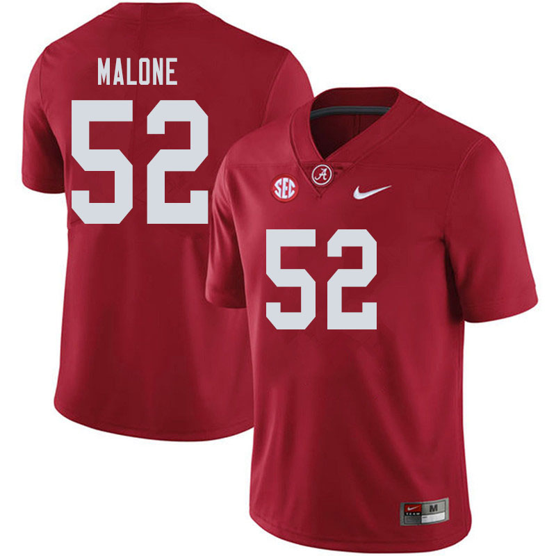 Men #52 Preston Malone Alabama Crimson Tide College Football Jerseys Sale-Crimson