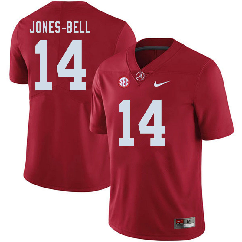 Men #14 Thaiu Jones-Bell Alabama Crimson Tide College Football Jerseys Sale-Crimson