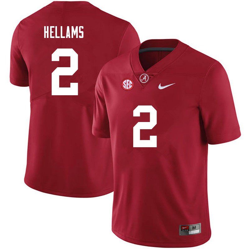 Men #2 DeMarcco Hellams Alabama Crimson Tide College Football Jerseys Sale-Black