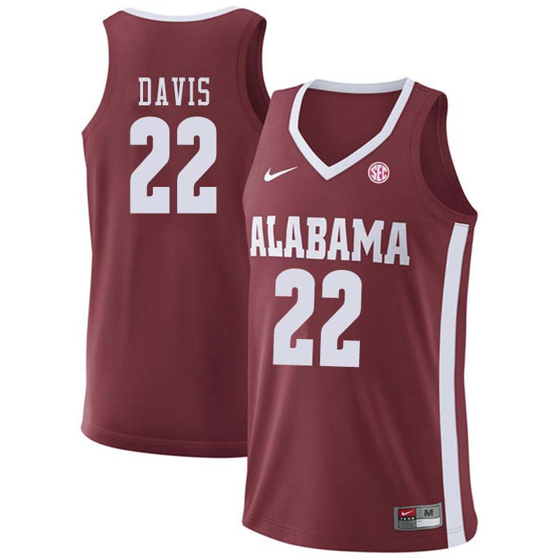 Men #12 Donta Hall Alabama Crimson Tide College Basketball Jerseys Sale-Crimson