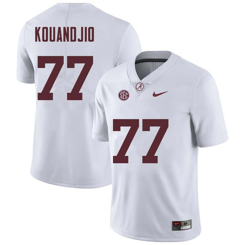 Men #77 Arie Kouandjio Alabama Crimson Tide College Football Jerseys Sale-White