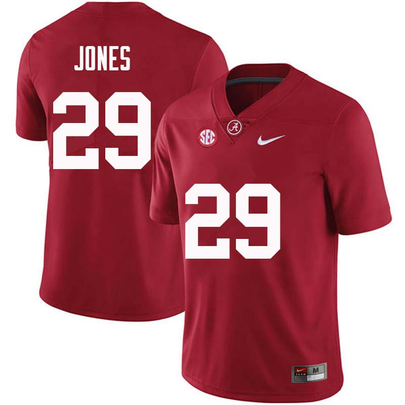 Men #29 Austin Jones Alabama Crimson Tide College Football Jerseys Sale-Crimson