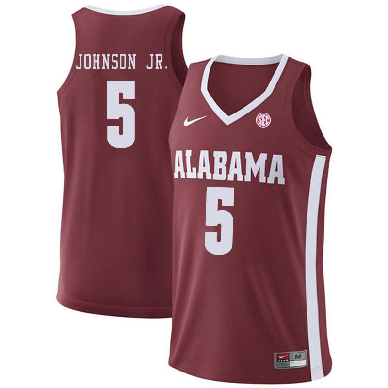 Men #7 Donta Hall Alabama Crimson Tide College Basketball Jerseys Sale-Crimson