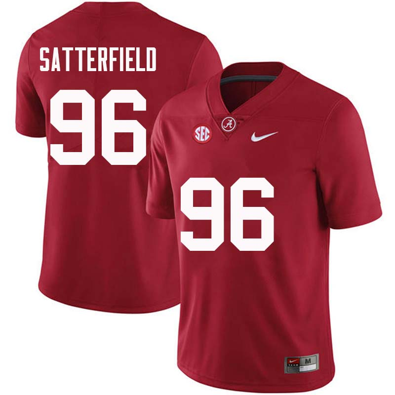 Men #96 Brannon Satterfield Alabama Crimson Tide College Football Jerseys Sale-Crimson