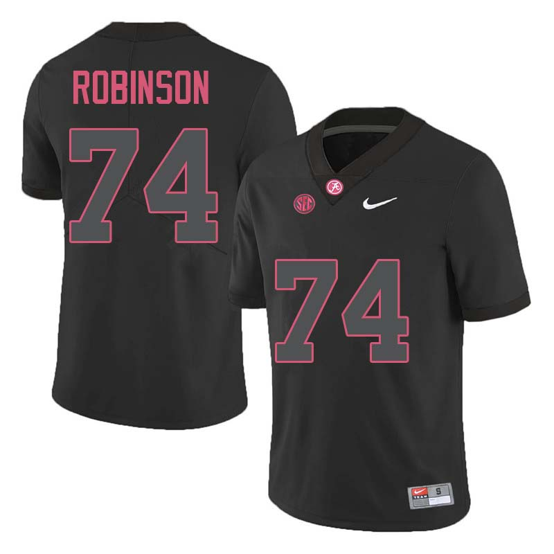 Men #74 Cam Robinson Alabama Crimson Tide College Football Jerseys Sale-Black