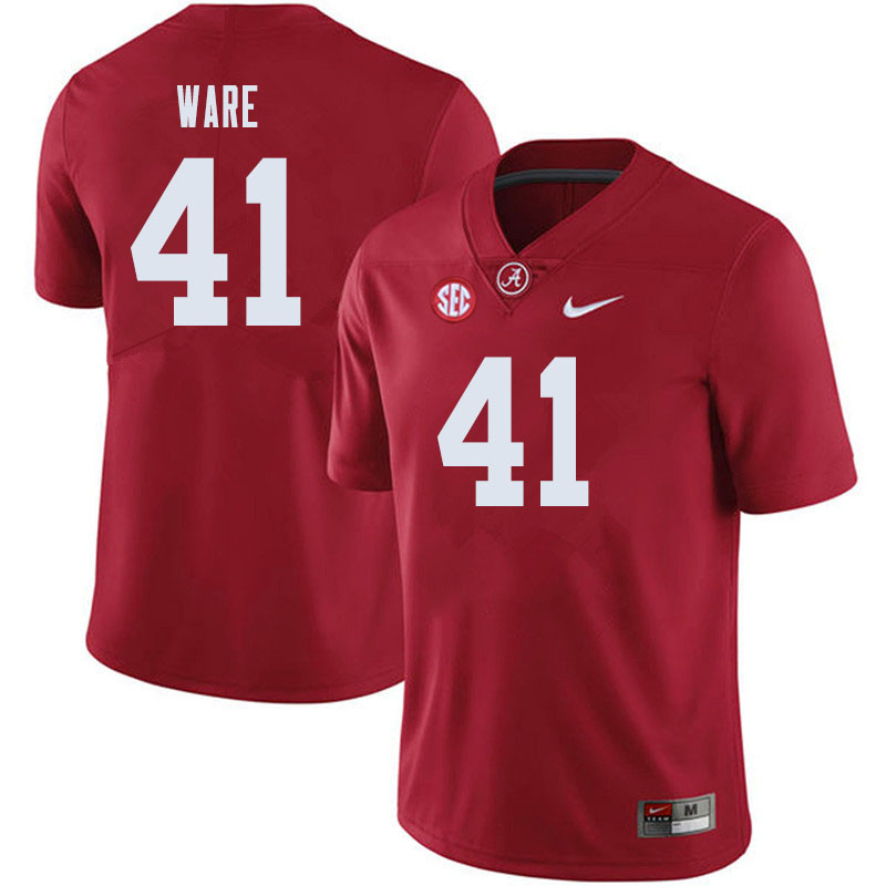 Men #41 Carson Ware Alabama Crimson Tide College Football Jerseys Sale-Crimson