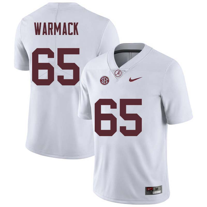 Men #65 Chance Warmack Alabama Crimson Tide College Football Jerseys Sale-White