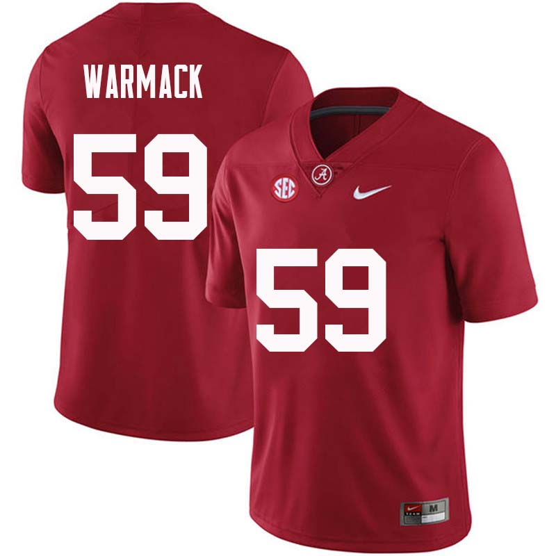 Men #59 Dallas Warmack Alabama Crimson Tide College Football Jerseys Sale-Crimson