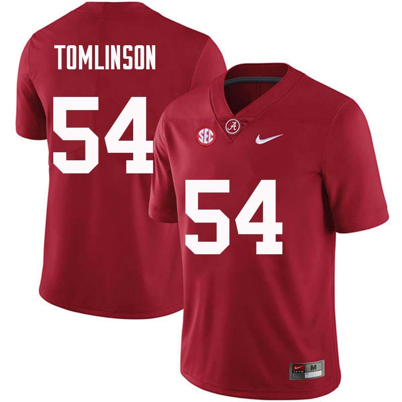 Men #54 Dalvin Tomlinson Alabama Crimson Tide College Football Jerseys Sale-Crimson