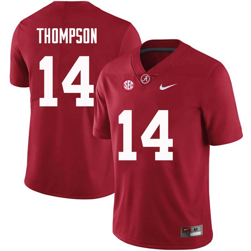 Men #14 Deionte Thompson Alabama Crimson Tide College Football Jerseys Sale-Crimson