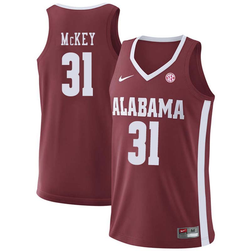 Men #20 Donta Hall Alabama Crimson Tide College Basketball Jerseys Sale-Crimson