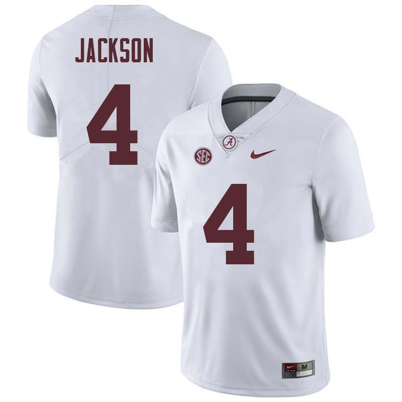 Men #4 Eddie Jackson Alabama Crimson Tide College Football Jerseys Sale-White