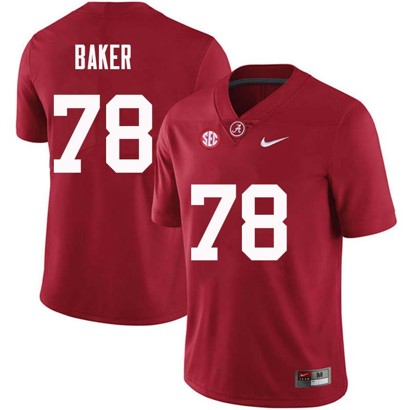 Men #78 Elliot Baker Alabama Crimson Tide College Football Jerseys Sale-Crimson