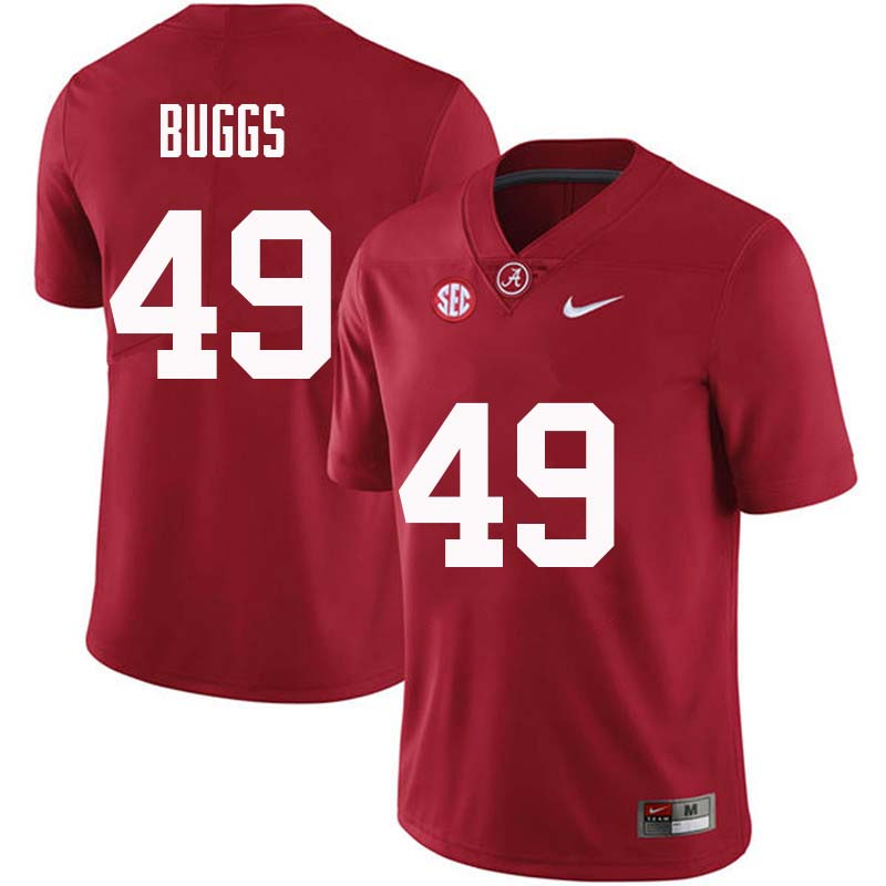 Men #49 Isaiah Buggs Alabama Crimson Tide College Football Jerseys Sale-Crimson