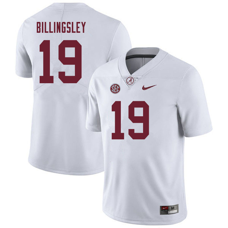 Men #19 Jahleel Billingsley Alabama Crimson Tide College Football Jerseys Sale-White