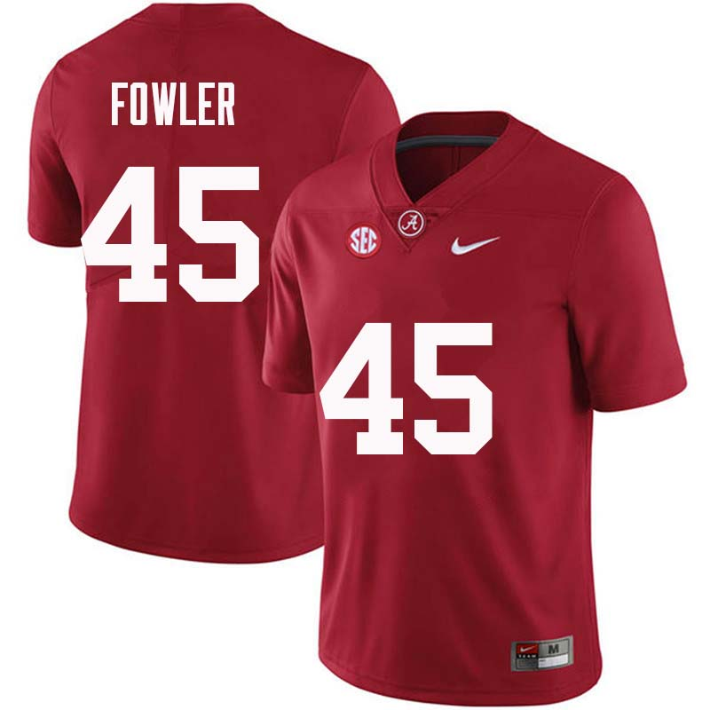 Men #45 Jalston Fowler Alabama Crimson Tide College Football Jerseys Sale-Crimson
