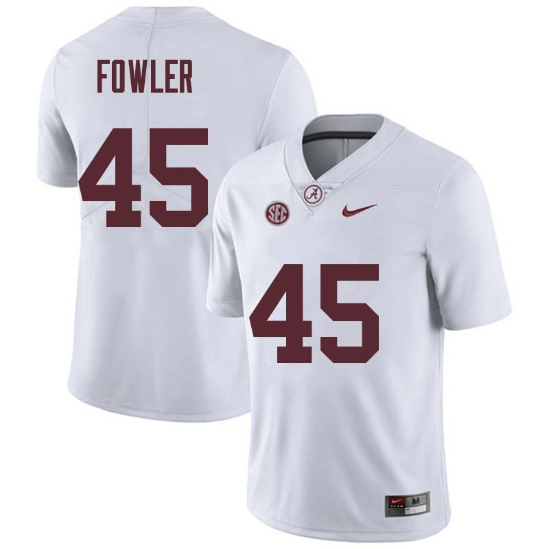 Men #45 Jalston Fowler Alabama Crimson Tide College Football Jerseys Sale-White