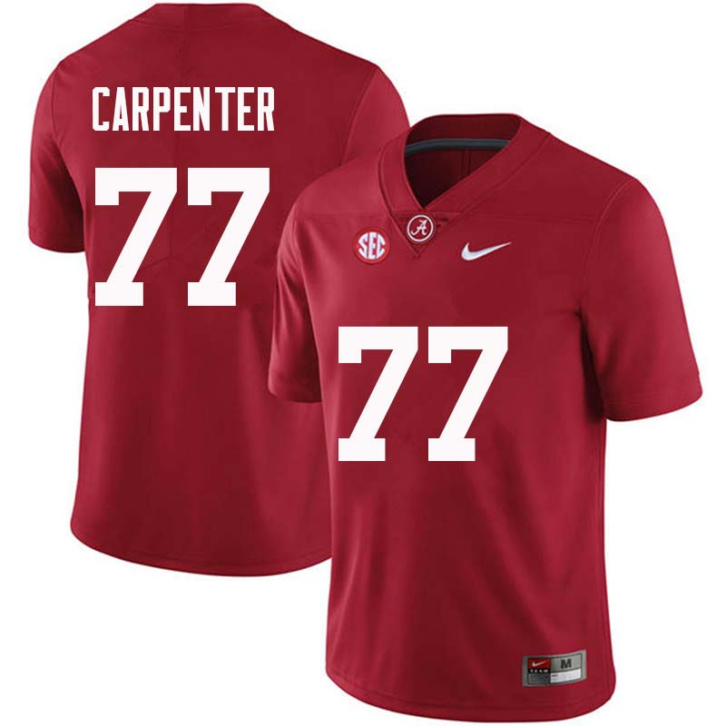 Men #77 James Carpenter Alabama Crimson Tide College Football Jerseys Sale-Crimson
