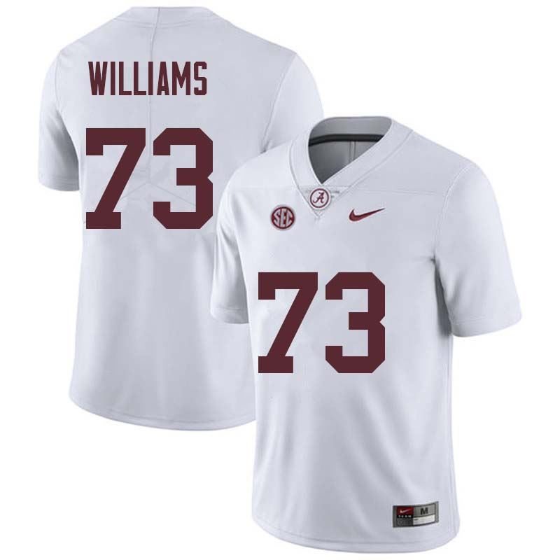 Men #73 Jonah Williams Alabama Crimson Tide College Football Jerseys Sale-White