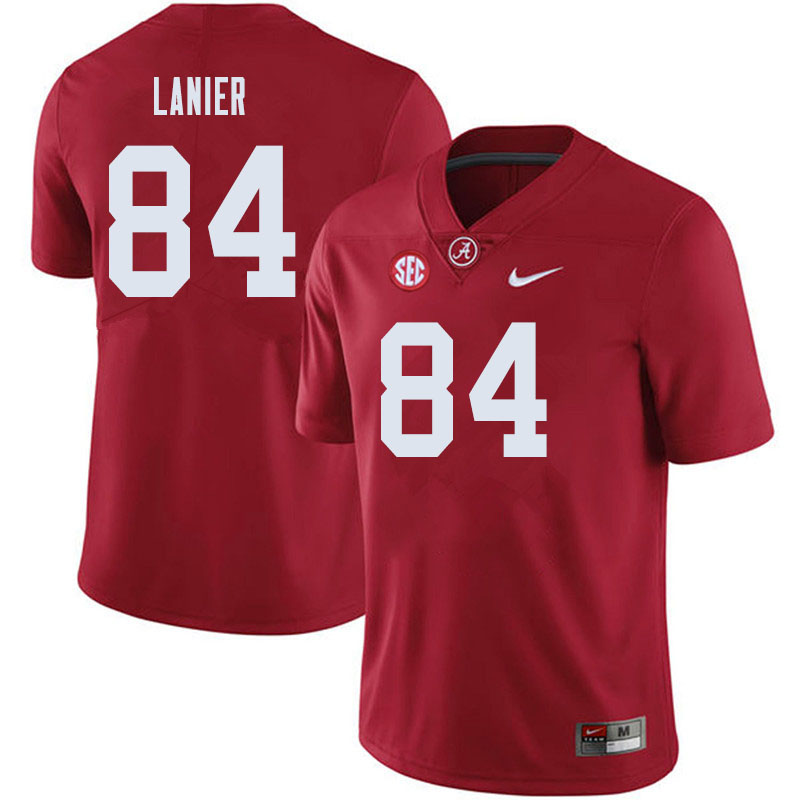 Men #84 Joshua Lanier Alabama Crimson Tide College Football Jerseys Sale-Crimson