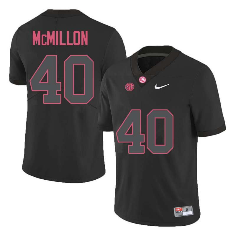 Men #40 Joshua McMillon Alabama Crimson Tide College Football Jerseys Sale-Black