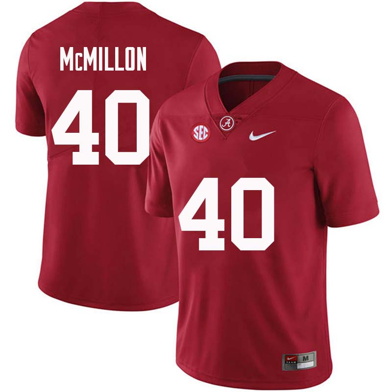 Men #40 Joshua McMillon Alabama Crimson Tide College Football Jerseys Sale-Crimson