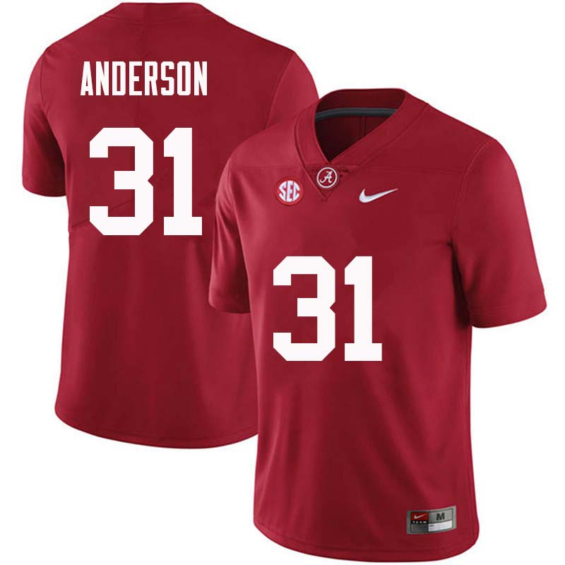 Men #31 Keaton Anderson Alabama Crimson Tide College Football Jerseys Sale-Crimson
