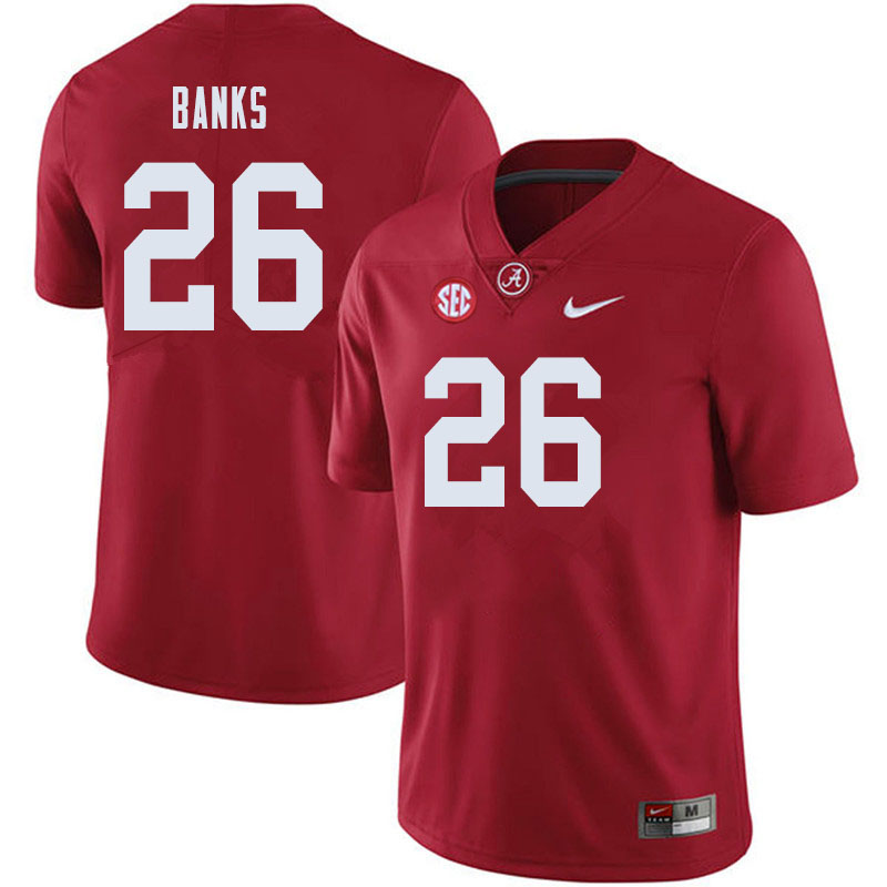 Men #26 Marcus Banks Alabama Crimson Tide College Football Jerseys Sale-Crimson