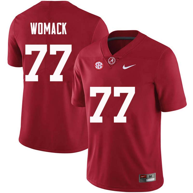 Men #77 Matt Womack Alabama Crimson Tide College Football Jerseys Sale-Crimson
