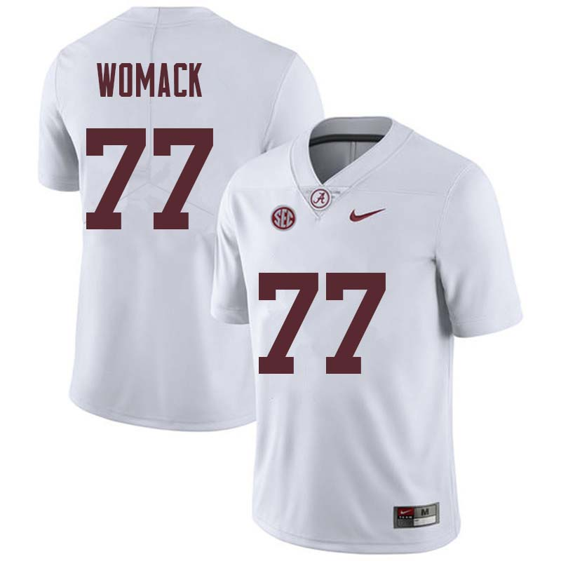 Men #77 Matt Womack Alabama Crimson Tide College Football Jerseys Sale-White